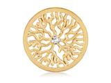Nikki Lissoni Gold- Tone 33mm Clear Swarovski® Elements Coin style: C1203GM