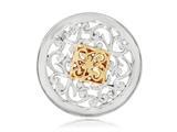 Nikki Lissoni Silver-tone 23.6mm Square Fantasy Coin style: C1205SS