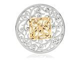 Nikki Lissoni Silver- Tone 43mm Square Fantasy Coin style: C1206SL