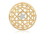 Nikki Lissoni Gold- Tone 43mm Center Star Coin style: C1207GL