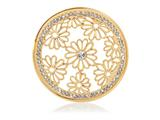 Nikki Lissoni Gold- Tone 43mm Large Sparkling Daisies Coin style: C1208GL