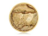 Nikki Lissoni Gold-tone 33mm Faceted Picture Jasper Coin style: C1213GM