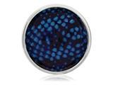 Nikki Lissoni Silver-tone 33mm Enamel Overlay Blue Snake Print Coin style: C1216SM
