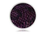 Nikki Lissoni Silver-tone 33mm Enamel Overlay Purpleprint Coin style: C1217SM