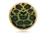 Nikki Lissoni Gold-tone 33mm Enamel Overlay Green Print Coin style: C1219GM