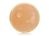 Nikki Lissoni Gold-tone 33mm Faceted Yellow Jade Coin style: C1223GM