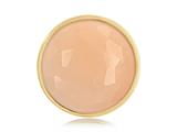 Nikki Lissoni Gold-tone 33mm Faceted Peach Stone Coin style: C1224GM
