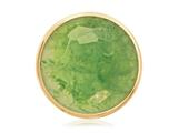 Nikki Lissoni Gold-tone 33mm Faceted Green Fluorite Coin style: C1225GM