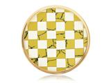 Nikki Lissoni Gold-tone 33mm Shell and Epoxy Mosaic Coin style: C1230GM