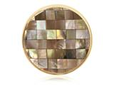 Nikki Lissoni Gold-tone 33mm Brown Shell Mosaic Coin style: C1231GM