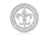 Nikki Lissoni Silver-tone With Clear Swarovski® 33mm French Sparkle Coin style: C1232SM