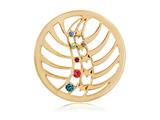 Nikki Lissoni Gold-tone 33mm Multicolor Swarovski® Heavenly Light Coin style: C1233GM