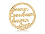 Nikki Lissoni Gold-tone 33mm Love Coin style: C1234GM