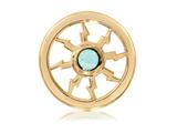 Nikki Lissoni Gold-tone 23.6mm Turquoise Thunder Coin style: C1235GS