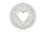 Nikki Lissoni Silver-tone 23.6mm Clear Swarovski® Love Is All Around Coin style: C1237SS