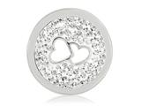 Nikki Lissoni Silver-tone 23.6mm Clear Swarovski® Love Is All Around Coin style: C1238SS