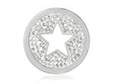 Nikki Lissoni Silver-tone 23.6mm Clear Swarovski® Sparkling Star Coin style: C1239SS