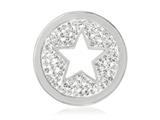 Nikki Lissoni Silver-tone 23.6mm Clear Swarovski® Sparkling Star Coin style: C1239SS