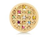 Nikki Lissoni Gold- Tone 33mm Multicolor Swarovski® Elements Colors style: C1242GM