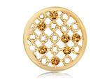 Nikki Lissoni Gold-tone 33mm Orange Swarovski® Elements Unchained Coin style: C1247GM