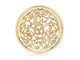 Nikki Lissoni Gold- Tone 43mm Turquoise Fantasy Curls Enamel Coin style: C1249GL