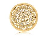 Nikki Lissoni Gold- Tone 43mm Clear Swarovski® Elements Curl Coin style: C1250GL