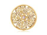 Nikki Lissoni Gold-tone 43mm Violet Swarovski® Elements Coin style: C1251GL