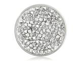 Nikki Lissoni Silver-tone 33mm Clear Rock Crystal Swarovski Elements Coin style: C1258SM