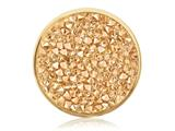 Nikki Lissoni Gold-tone 33mm Yellow Rock Crystal Swarovski Elements Coin style: C1259GM
