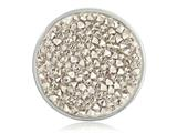 Nikki Lissoni Silver-tone 33mm White Rock Crystal Swarovski Elements Coin style: C1260SM