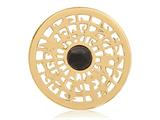 Nikki Lissoni Gold-tone 33mm Center Of The World With Onyx Coin style: C1261GM