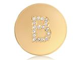 Nikki Lissoni Gold-tone 23.6mm Swarovski® Elements Initial B Coin style: C1262GSB