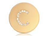 Nikki Lissoni Gold-tone 23.6mm Swarovski® Elements Initial C Coin style: C1262GSC