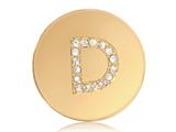 Nikki Lissoni Gold-tone 23.6mm Swarovski® Elements Initial D Coin style: C1262GSD