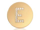 Nikki Lissoni Gold-tone 23.6mm Swarovski® Elements Initial E Coin style: C1262GSE