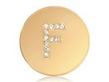 Nikki Lissoni Gold-tone 23.6mm Swarovski® Elements Initial F Coin style: C1262GSF