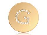 Nikki Lissoni Gold-tone 23.6mm Swarovski® Elements Initial G Coin style: C1262GSG