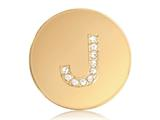 Nikki Lissoni Gold-tone 23.6mm Swarovski® Elements Initial J Coin style: C1262GSJ