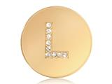 Nikki Lissoni Gold-tone 23.6mm Swarovski® Elements Initial L Coin style: C1262GSL