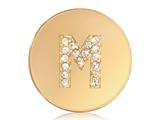 Nikki Lissoni Gold-tone 23.6mm Swarovski® Elements Initial M Coin style: C1262GSM
