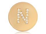 Nikki Lissoni Gold-tone 23.6mm Swarovski® Elements Initial N Coin style: C1262GSN