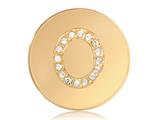 Nikki Lissoni Gold-tone 23.6mm Swarovski® Elements Initial O Coin style: C1262GSO
