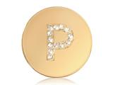 Nikki Lissoni Gold-tone 23.6mm Swarovski® Elements Initial P Coin style: C1262GSP