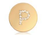 Nikki Lissoni Gold-tone 23.6mm Swarovski® Elements Initial P Coin style: C1262GSP
