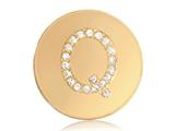 Nikki Lissoni Gold-tone 23.6mm Swarovski® Elements Initial Q Coin style: C1262GSQ