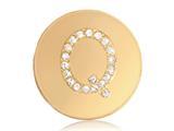 Nikki Lissoni Gold-tone 23.6mm Swarovski® Elements Initial Q Coin style: C1262GSQ