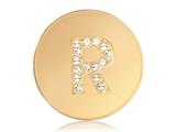 Nikki Lissoni Gold-tone 23.6mm Swarovski® Elements Initial R Coin style: C1262GSR