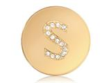 Nikki Lissoni Gold-tone 23.6mm Swarovski® Elements Initial S Coin style: C1262GSS