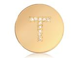 Nikki Lissoni Gold-tone 23.6mm Swarovski® Elements Initial T Coin style: C1262GST
