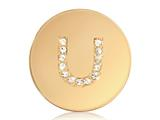 Nikki Lissoni Gold-tone 23.6mm Swarovski® Elements Initial U Coin style: C1262GSU